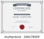vector certificate template. | Shutterstock .eps vector #268178309