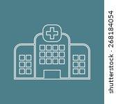 illustration of vector medical... | Shutterstock .eps vector #268184054