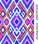 blue ikat design   seamless... | Shutterstock .eps vector #268199330