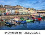 port and colorful houses in...   Shutterstock . vector #268206218