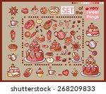 set of the very sweet things | Shutterstock .eps vector #268209833