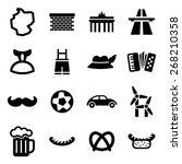 germany icons | Shutterstock .eps vector #268210358