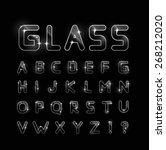 vector glass font  | Shutterstock .eps vector #268212020