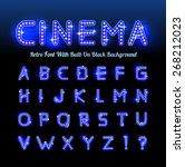 retro cinema font | Shutterstock .eps vector #268212023