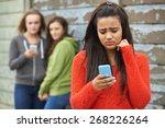 teenage girl being bullied by... | Shutterstock . vector #268226264