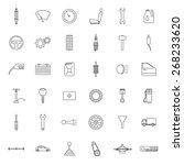 set of car parts icons.  | Shutterstock .eps vector #268233620