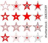 stars. design elements. vector. | Shutterstock .eps vector #26823439