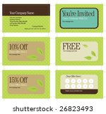 3.5x2 business card and promo... | Shutterstock .eps vector #26823493