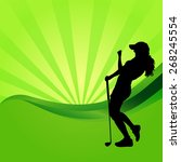 vector silhouettes of golf on a ... | Shutterstock .eps vector #268245554