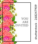invitation with floral... | Shutterstock .eps vector #268247909