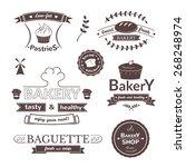 bakery signs set  retro... | Shutterstock .eps vector #268248974