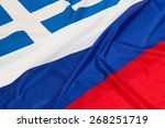close up of flags of russia and ... | Shutterstock . vector #268251719