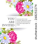 invitation with floral... | Shutterstock .eps vector #268252274