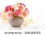 beautiful fresh spring flowers...   Shutterstock . vector #268260053