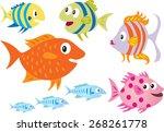 eight cartoon fish | Shutterstock .eps vector #268261778