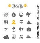 vector flat icon set   travel    Shutterstock .eps vector #268261934