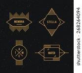 hipster logo set.   | Shutterstock .eps vector #268264094