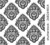 black and white seamless... | Shutterstock .eps vector #268264814