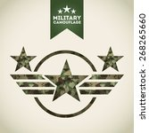 military camouflage design ... | Shutterstock .eps vector #268265660