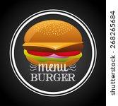 fast food design  vector... | Shutterstock .eps vector #268265684