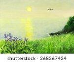 Still Life Of Green Meadow...