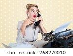 retro revival  telephone ... | Shutterstock . vector #268270010