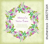 vector round frame with... | Shutterstock .eps vector #268275164