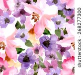 beautiful seamless floral... | Shutterstock .eps vector #268277300