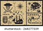 set of vintage pirate elements. ... | Shutterstock .eps vector #268277339