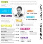 cv  resume template.... | Shutterstock .eps vector #268278890