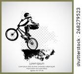 vector of bmx cyclist  | Shutterstock .eps vector #268279523