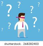 cartoon character businessman...   Shutterstock .eps vector #268282403