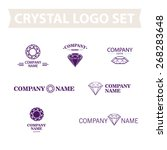 vector classic diamond logo set ... | Shutterstock .eps vector #268283648