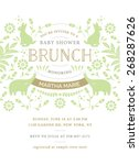 baby shower brunch invitation... | Shutterstock .eps vector #268287626