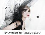 veil fashion sexy woman art... | Shutterstock . vector #268291190