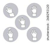 hand on device design  vector... | Shutterstock .eps vector #268292120