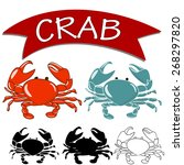Set Of Vector Cooked Crab And...