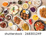 different appetizer and anti... | Shutterstock . vector #268301249