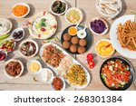 different appetizer and anti... | Shutterstock . vector #268301384