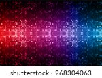 dark red purple blue color... | Shutterstock .eps vector #268304063