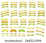 set of ribbons  isolated on... | Shutterstock .eps vector #268311494