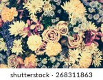 Vintage Old Flower Backgrounds  ...