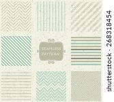 set of 8 geometric seamless... | Shutterstock .eps vector #268318454