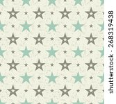 seamless pattern with  stars... | Shutterstock .eps vector #268319438