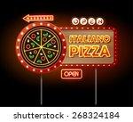 neon sign pizza | Shutterstock .eps vector #268324184