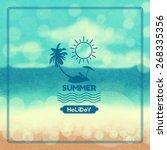 summer  background vintage. | Shutterstock .eps vector #268335356