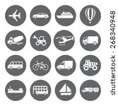 set of vector transport icons... | Shutterstock .eps vector #268340948