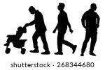 men silhouette vector  isolated | Shutterstock .eps vector #268344680