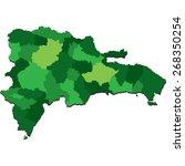 dominican republic | Shutterstock .eps vector #268350254