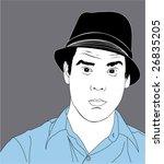 white male illustration   Shutterstock .eps vector #26835205